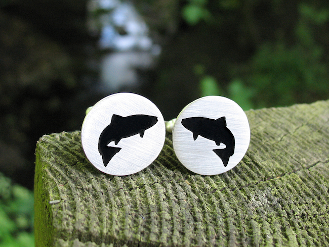 Salmon Cufflinks Hannah Louise Lamb