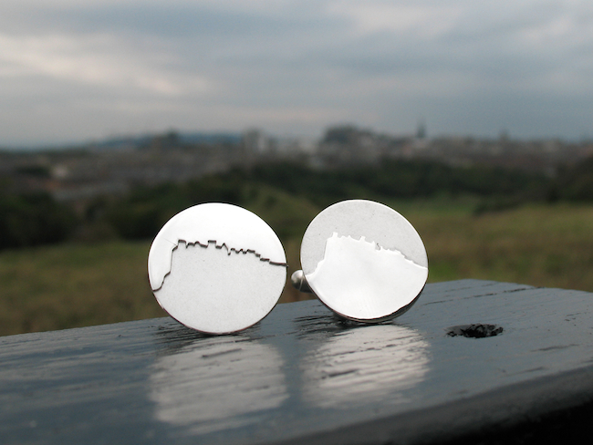 Edinburgh Castle Cufflinks Hannah Louise Lamb
