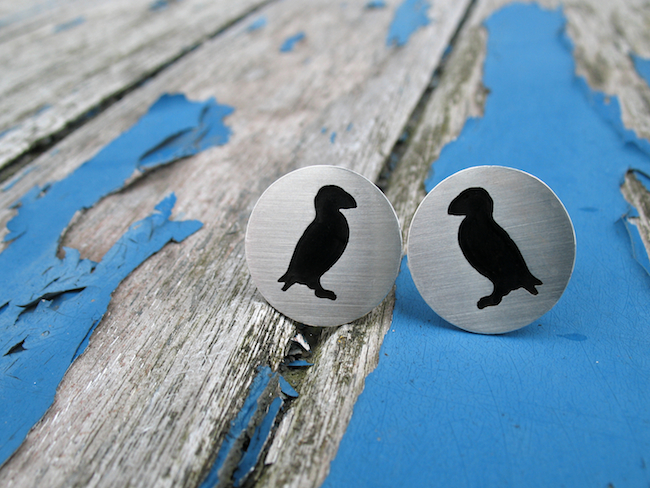 Puffin Cufflinks Hannah Louise Lamb