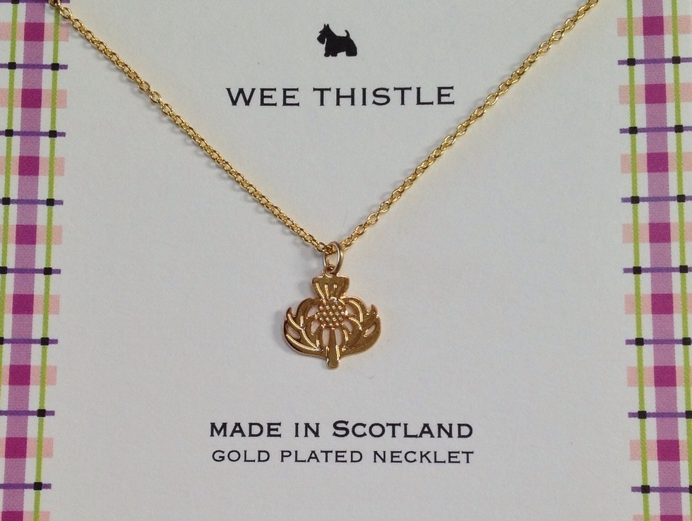 thistle Gold Necklet