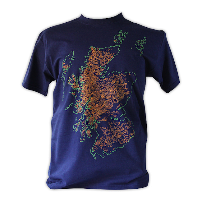OS Map Navy MensTshirt