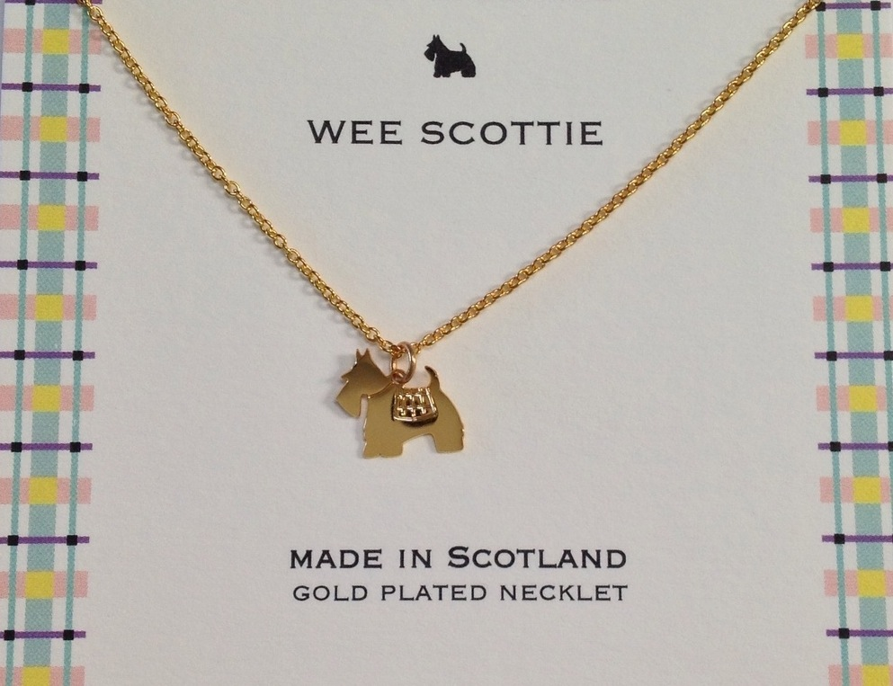 Scottie Dog Gold Necklet
