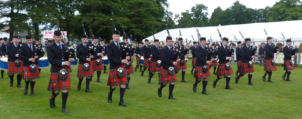 Field Marshal Montgomery Pipe Band - winners of the World Pipe Band Championship 9 times.