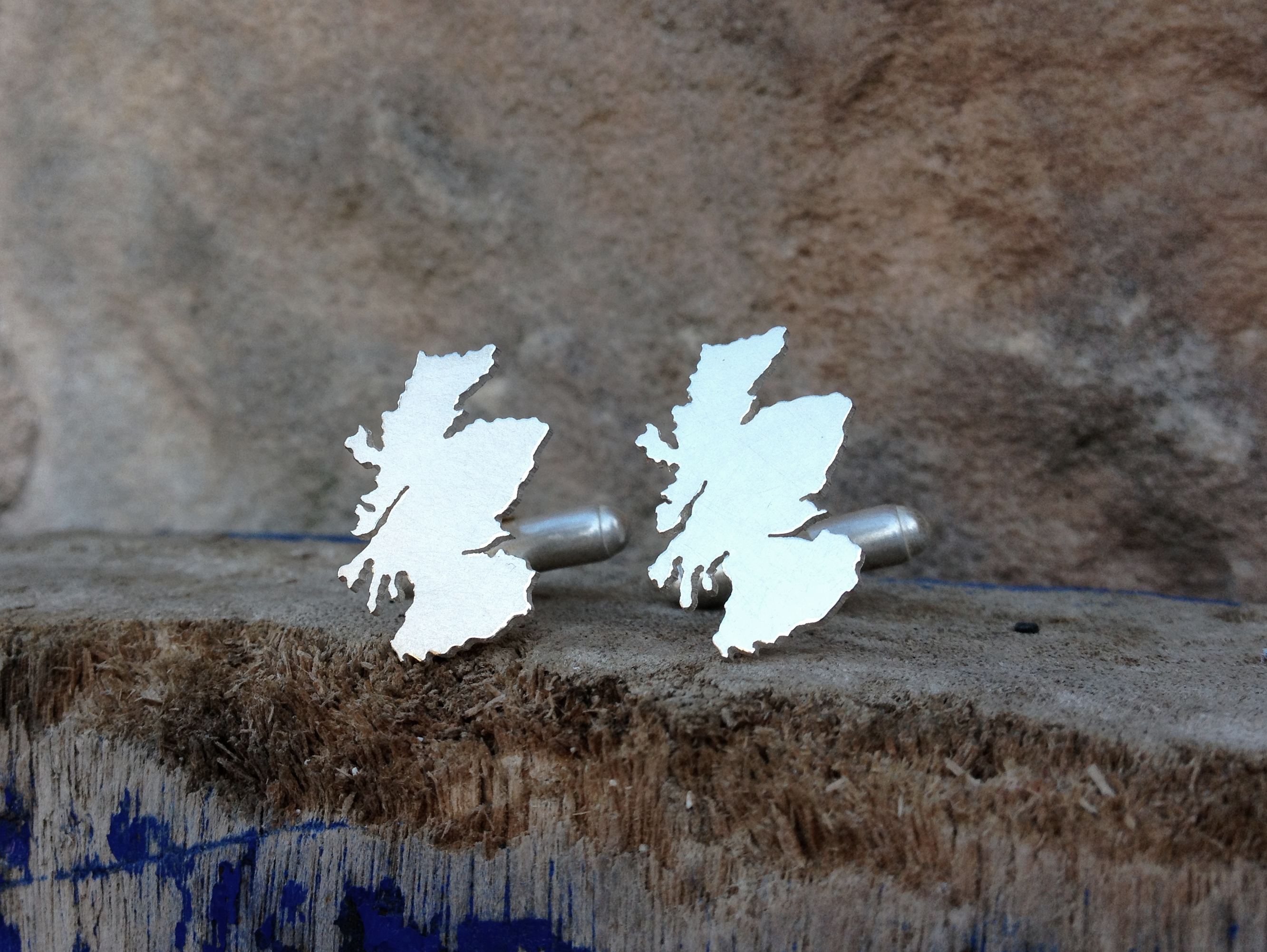 scotland outline cufflinks Hannah Louise Lamb