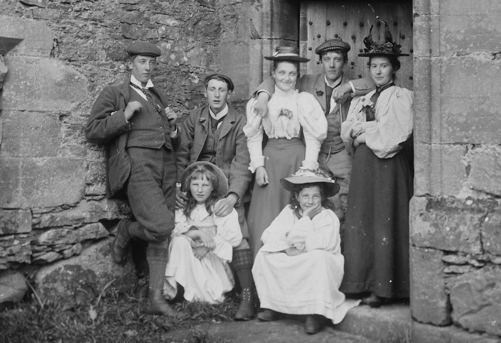 Victorian glass negatives... lost Scotland by Dawn Parsonage - group with girls older