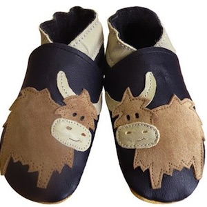 Highland Cow Soft Leather Baby Shoes