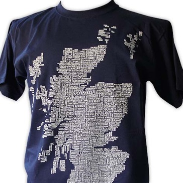 Scotland Map Names Men's T-Shirt