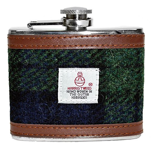 4oz-Black-Watch-Harris-Tweed-Hip-Flask-0