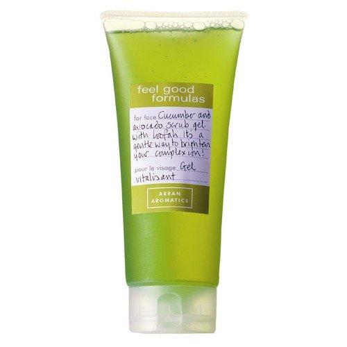 Arran-Aromatics-of-Scottland-Invigorating-Facial-Scrub-Gel-with-Cucumber-Avocado-and-Loofah-200ml-0