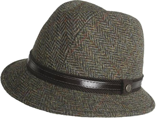 "ab5559c52a8c6 Brims ""Wilshire"" Authentic Harris Tweed 100% Wool Gentleman Hat Made in  Italy"
