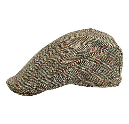 d2a0a6aecf46a Harris Tweed – Made in Scotland – The Dundee  Brad Pitt  Style Flat Cap –  made by Hanna Hats