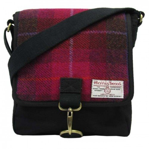 Harris-Tweed-Mens-Authentic-Premium-Cerise-Messenger-Bag-0