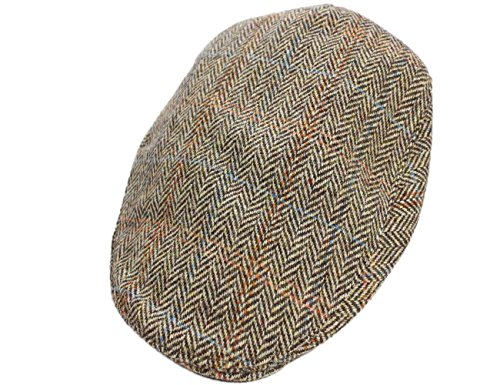 Irish-Touring-Cap-Harris-Tweed-Brown-Herringbone-0