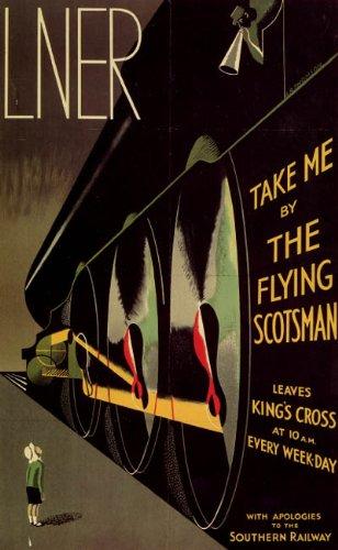 LNER-Flying-Scotsman-Train-Railway-Vintage-Poster-Reprint-18×24-0