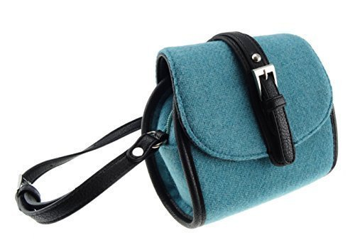e04b2d6922c2f Lovely Authentic Harris Tweed Mini Bag in Stunning Plain Sky Blue – Made In  Scotland