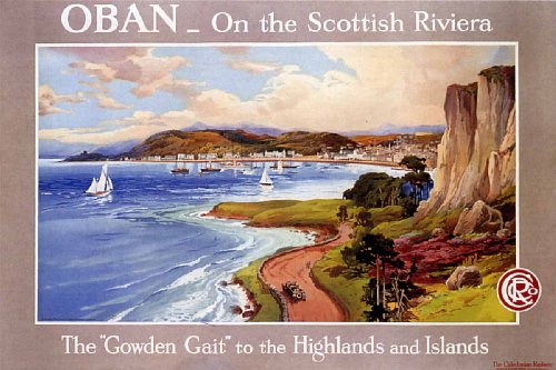 Oban-Scottish-Riviera-CCR-Railway-Scotland-Vintage-Poster-Print-24×36-0