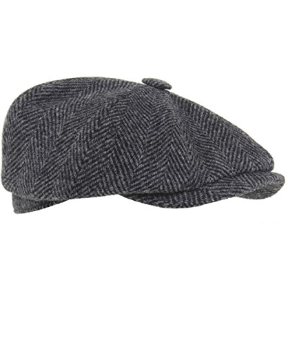 Olney-Harris-Tweed-Flat-Cap-Gray-0