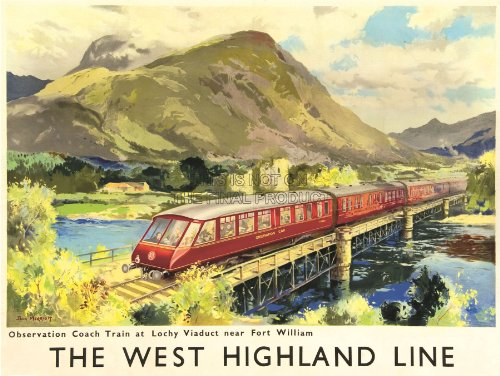 TRAVEL-RAIL-SCOTLAND-WEST-HIGHLAND-LINE-BRITISH-RAILWAYS-PRINT-POSTER-BB9786-0