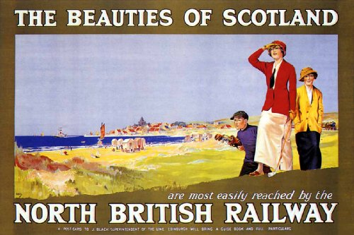 Vintage-Travel-Poster-Golf-Beauties-Scotland-North-British-Railway-24×36-0