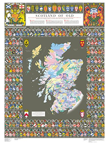 Scotland of Old Clans Map (Collins Pictorial Maps)